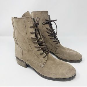 Sam Edelman Karla taupe Suede Combat Ankle Booties